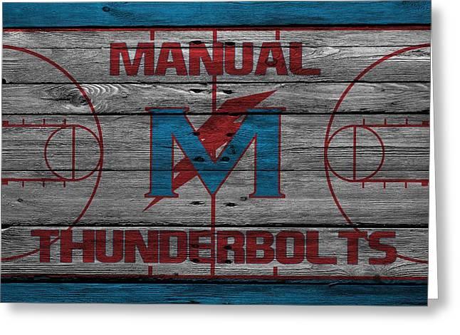 Basket Ball Greeting Cards - Manual Thunderbolts 4 Greeting Card by Joe Hamilton