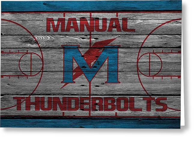 High School Greeting Cards - Manual Thunderbolts 4 Greeting Card by Joe Hamilton