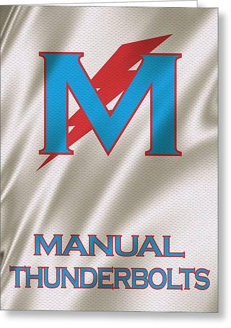 Basket Ball Greeting Cards - Manual Thunderbolts 6 Greeting Card by Joe Hamilton