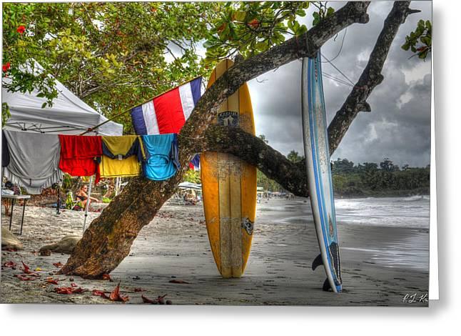 Vida Greeting Cards - Manuel Antonio Surfboards Greeting Card by Robert Kaler