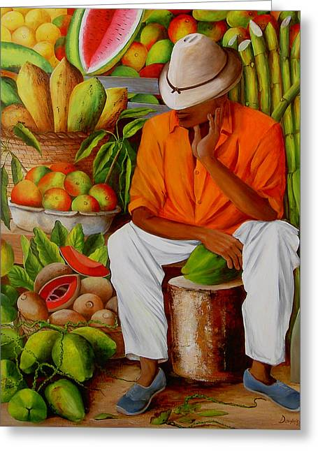 Manuel Greeting Card by Dominica Alcantara