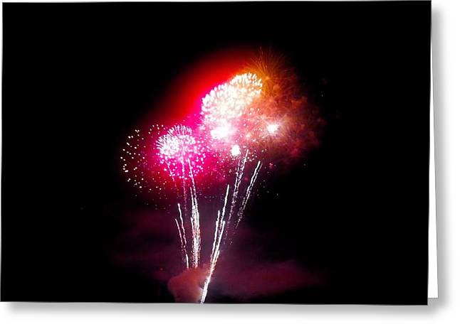 4th July Greeting Cards - Many Fireworks Greeting Card by Shelly Dixon
