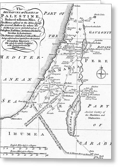 Map Of Palestine Greeting Card by English School