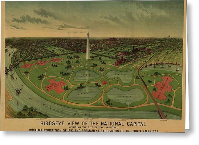 Map Of Washington Greeting Card by MotionAge Designs