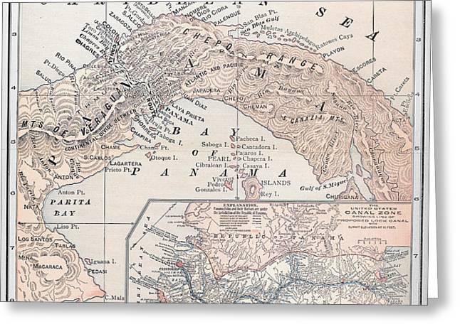 MAP: PANAMA, 1907 Greeting Card by Granger