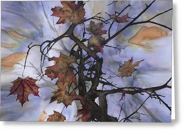 Maple Autumn Splash Greeting Card by Carolyn Doe