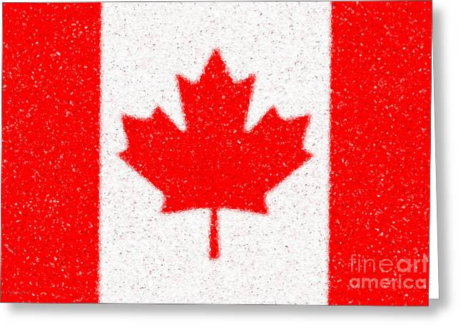 Maple Leaf abstract Greeting Card by Cristophers Dream Artistry
