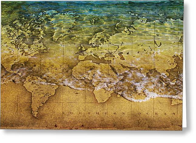 Treasures Greeting Cards - Maps Greeting Card by Martin Newman
