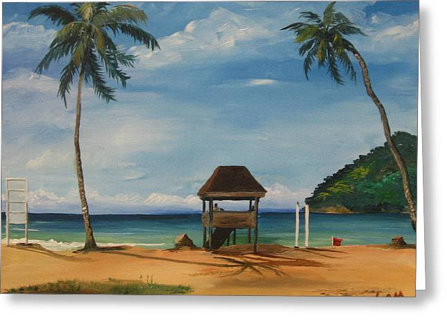 Samantha Greeting Cards - Maracas Bay 2 Greeting Card by Samantha Rochard