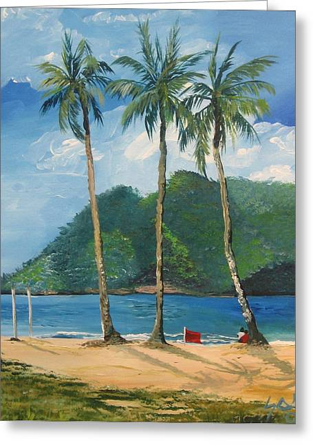 Samantha Greeting Cards - Maracas Bay 3 Greeting Card by Samantha Rochard