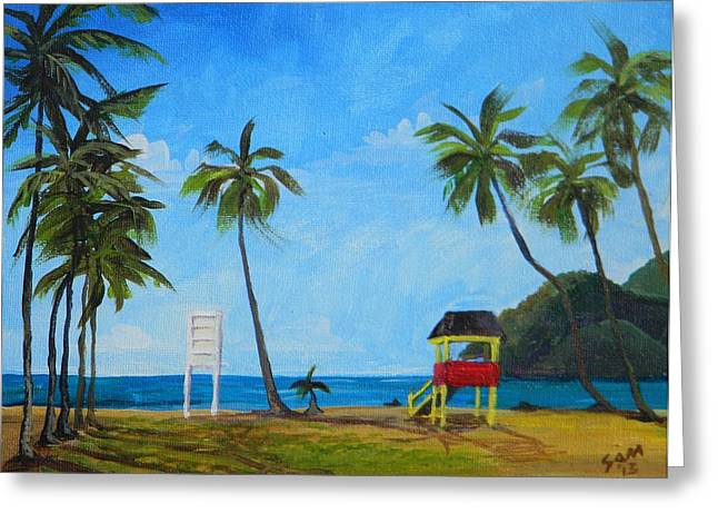 Samantha Greeting Cards - Maracas Bay 6 Greeting Card by Samantha Rochard