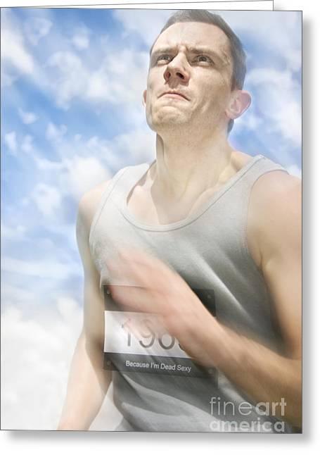 Marathon Motions Greeting Card by Jorgo Photography - Wall Art Gallery