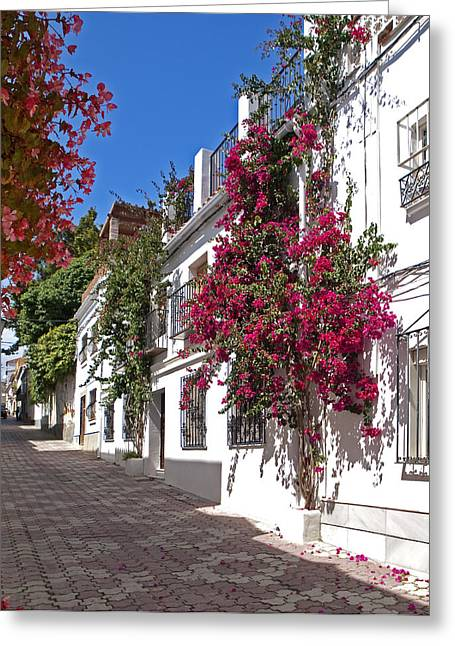 Marbella Old Town Greeting Card by Kenton Smith