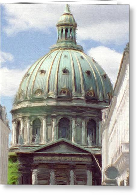 Marble Church Greeting Card by Jeff Kolker