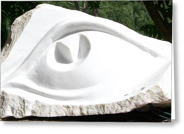 marble eye  Greeting Card by Marino Ceccarelli Sculptor