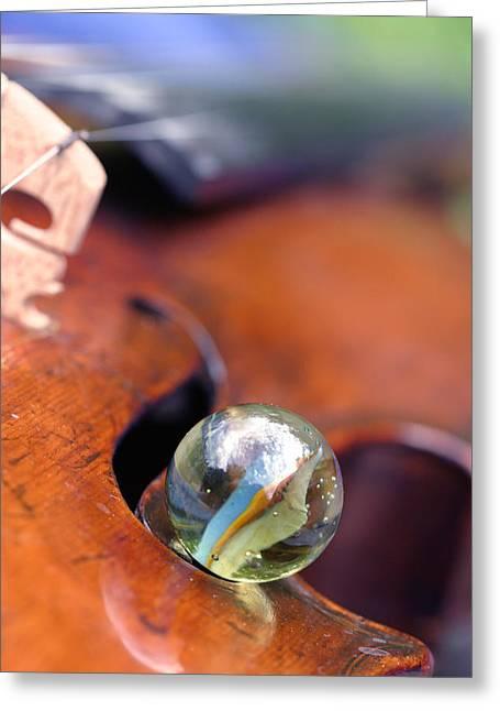 Marble On Violin Greeting Card by Dagmar Batyahav