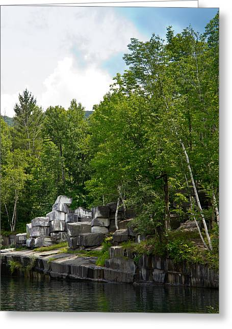 Marble Quarry In Dorset, Vermont Greeting Card by Lynne Albright