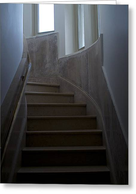 Groton Greeting Cards - Marble Staircase Winding Past Three Greeting Card by Todd Gipstein