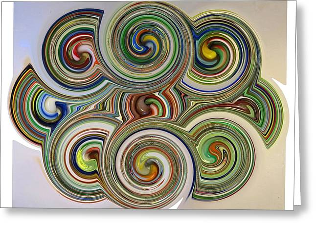 Marble Eye Greeting Cards - Marble Twirl Greeting Card by Kenneth Summers