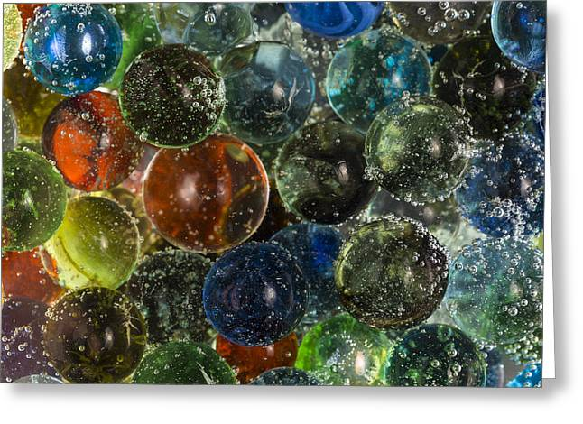 Carbonation Greeting Cards - Marbles Clear Soda 3 Greeting Card by John Brueske