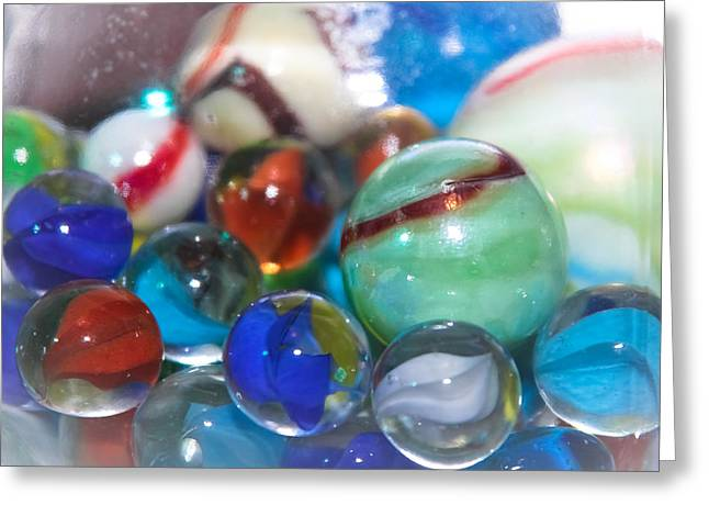 Toy Shop Greeting Cards - Marbles - Toys  Greeting Card by Colleen Kammerer