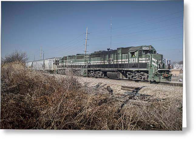 Evansville Greeting Cards - March 11. 2015 - Evansville and Western 3838 Greeting Card by Jim Pearson