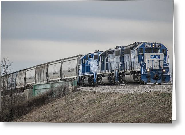 Evansville Greeting Cards - March 18. 2015 - Evansville Western Railway local MVL1 Greeting Card by Jim Pearson