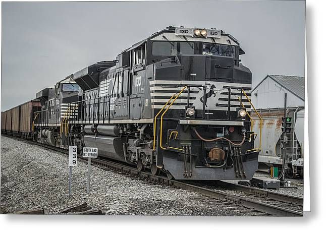 Evansville Greeting Cards - March 18. 2015 - Norfolk Southern loaded coal train NDN-1 Greeting Card by Jim Pearson