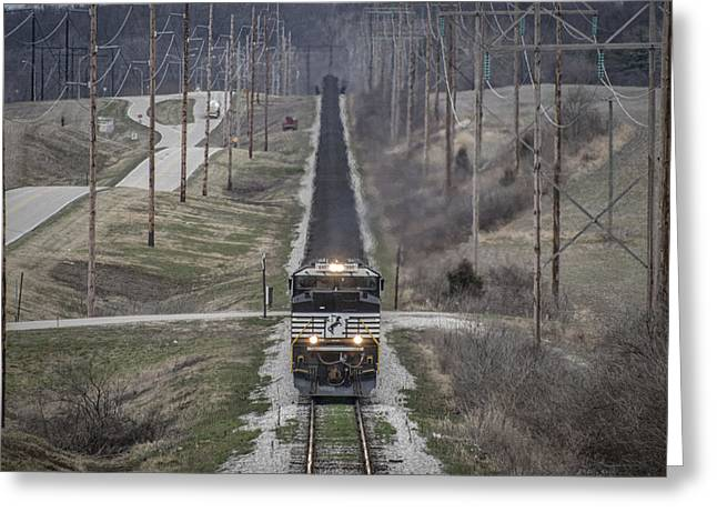 Evansville Greeting Cards - March 18. 2015 - Norfolk Southern NDN1 Greeting Card by Jim Pearson