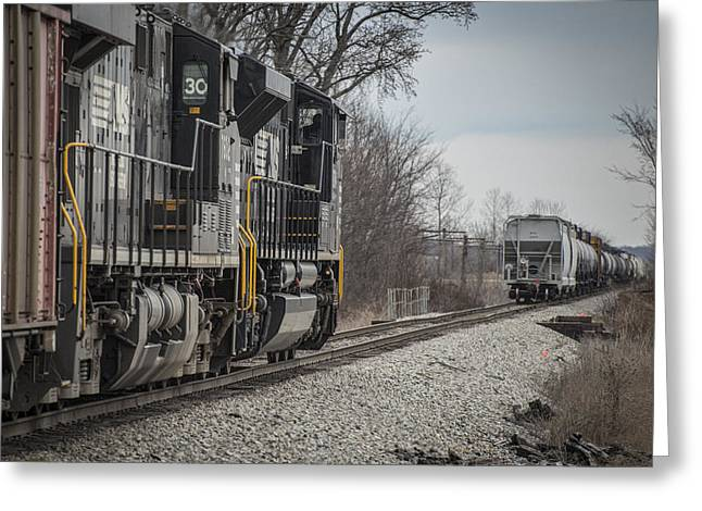 Evansville Greeting Cards - March 18. 2015 - Norfolk Southerns loaded coal train NDN-1 Greeting Card by Jim Pearson