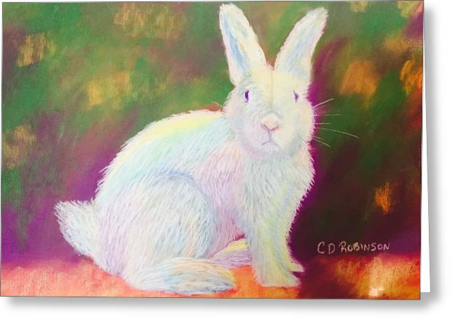 Rabbit Pastels Greeting Cards - March Hare Greeting Card by Christine Robinson