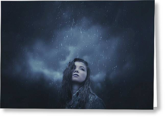 Self-portrait Photographs Greeting Cards - March Rain  Greeting Card by Erica Almquist