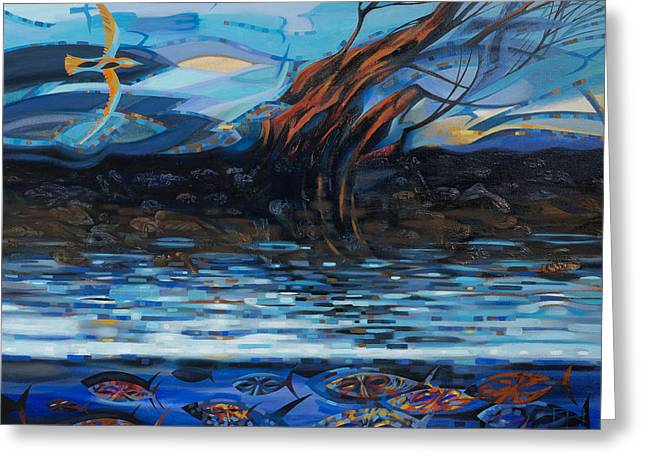 Inconsistencies Greeting Cards - March Streams and Winds Greeting Card by Oleg Lipchenko