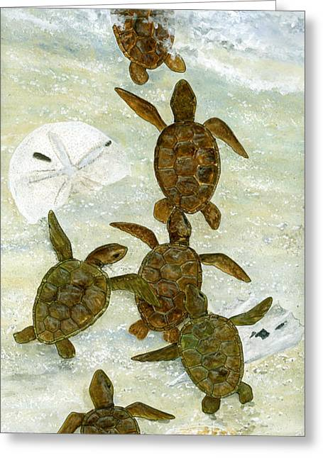 March To The Sea Greeting Card by Kevin Brant