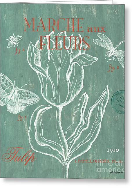 Marche Aux Fleurs Greeting Card by Debbie DeWitt