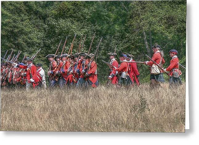 Powder Greeting Cards - Marching into Battle Greeting Card by Randy Steele