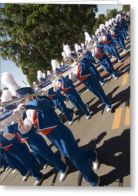 Marching Band Greeting Cards - Marching Greeting Card by JD Wright