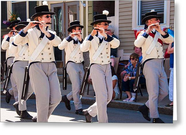 March Greeting Cards - Marching with the Band Greeting Card by Karen Regan