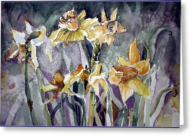 March Drawings Greeting Cards - Marchs First Blossoms Greeting Card by Mindy Newman