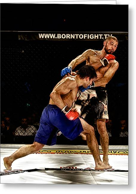 Boxe Greeting Cards - Marco Castorina VS Paolo Lamberto Greeting Card by Riccardo Mantero