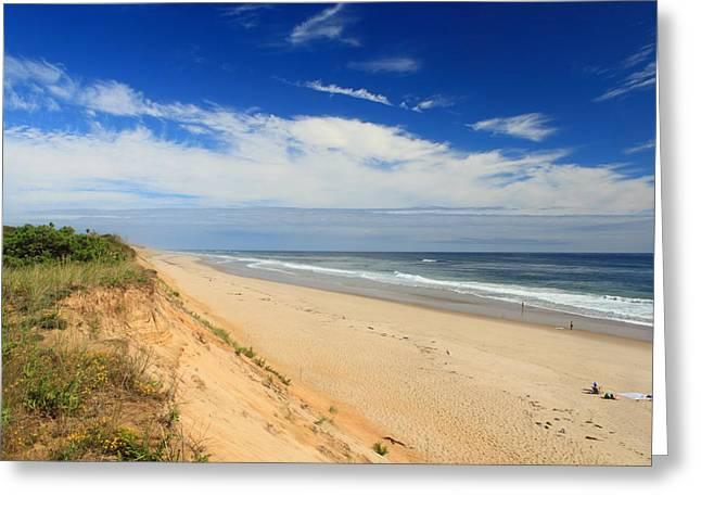Cape Cod Massachusetts Greeting Cards - Marconi Beach Cape Cod National Seashore Greeting Card by John Burk