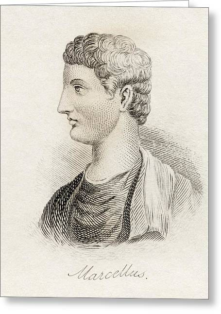 Marcelli Greeting Cards - Marcus Claudius Marcellus Ca. 268 Greeting Card by Ken Welsh