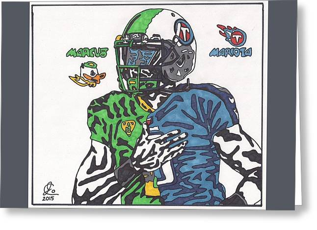 Heisman Greeting Cards - Marcus Mariota Crossover Greeting Card by Jeremiah Colley