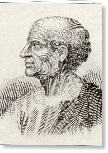 Censored Greeting Cards - Marcus Porcius Cato, 234 Bc To 149 Bc Greeting Card by Ken Welsh