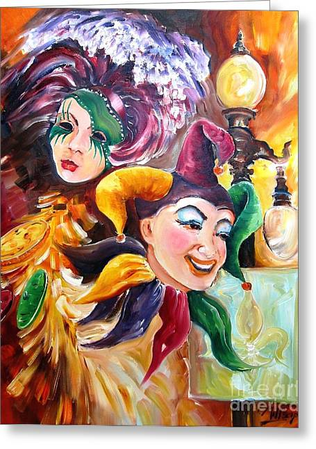 Jester Greeting Cards - Mardi Gras Images Greeting Card by Diane Millsap