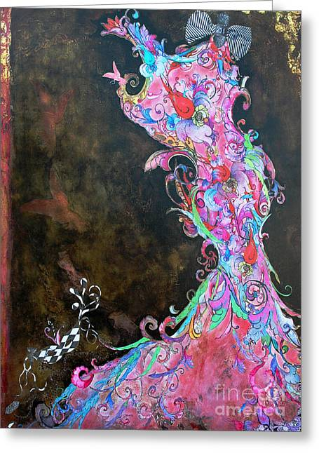 Anahi Decanio Mixed Media Greeting Cards - Mardi Gras in Bloom Greeting Card by Anahi DeCanio