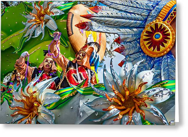 Mardi Gras - New Orleans 3 Greeting Card by Steve Harrington