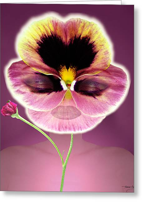 Floral Digital Art Digital Art Greeting Cards - Mardi Gras Greeting Card by Torie Tiffany