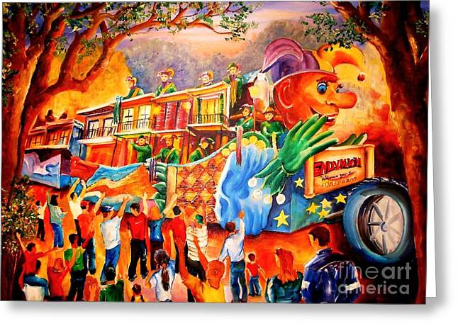 Mardi Gras With Endymion Greeting Card by Diane Millsap