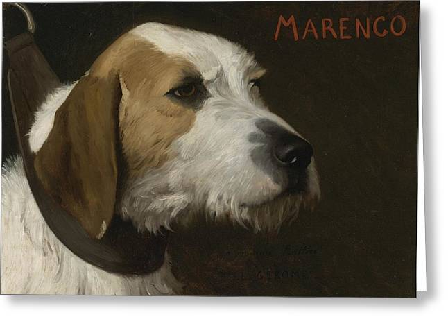 Gerome Greeting Cards - Marengo Greeting Card by Jean-leon Gerome
